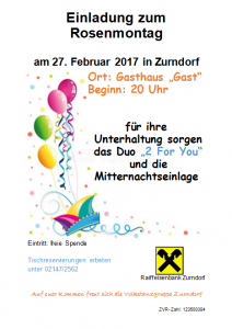 Einladung zum 2017